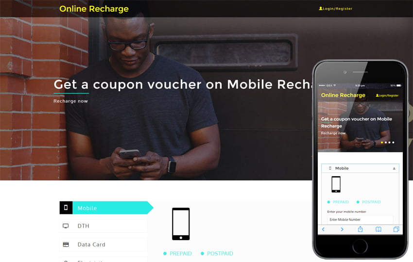 online_recharge-featured_image_Free06-05-2017_2049836562 - 56+ Best Free App Landing Page HTML Website Templates