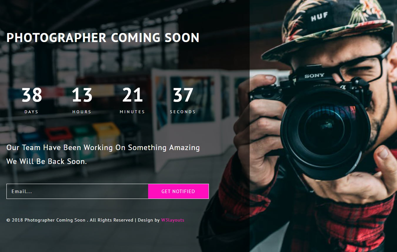 photographer_coming_soon_Free30-07-2018_1015323987 - 75+ Free Coming Soon HTML Responsive Templates 2019