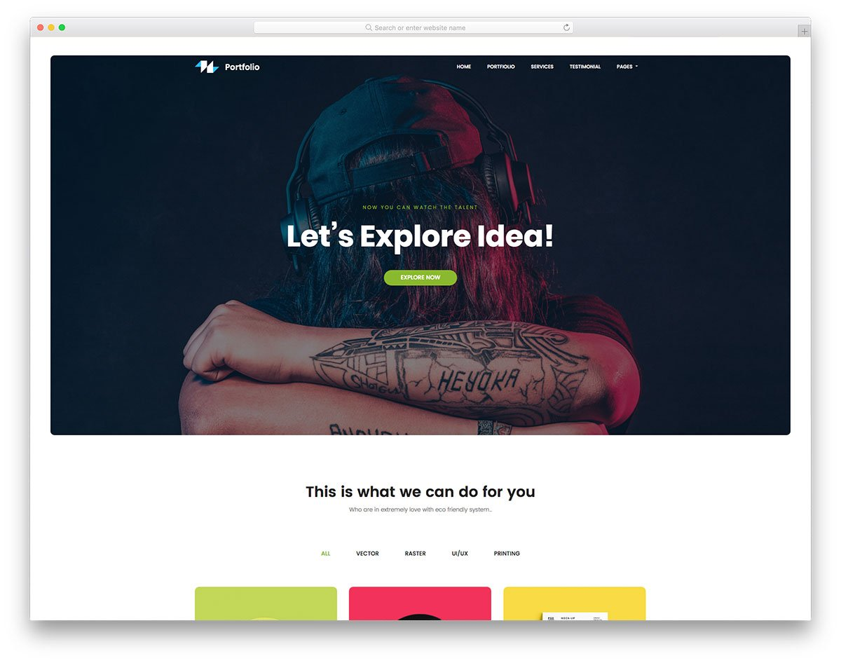 portfolio-free-template - 57+ Best Free Digital Agency HTML Website Templates