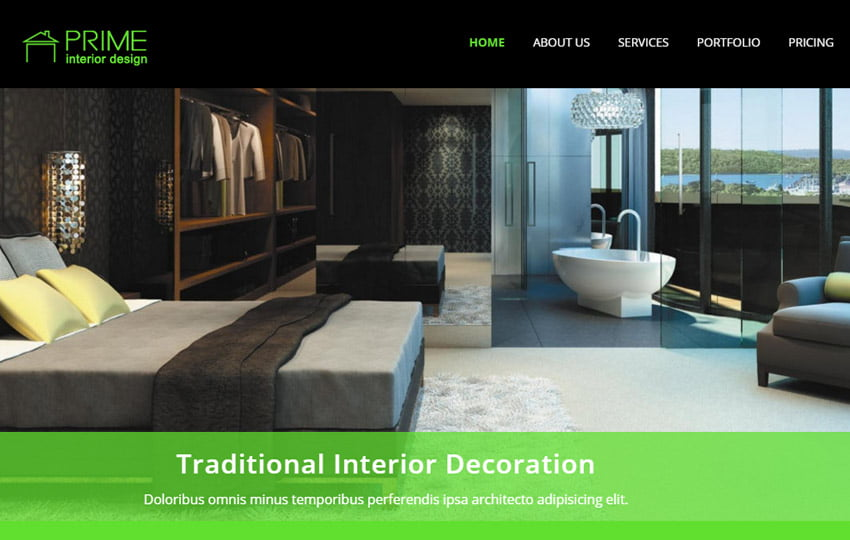 prime-interior-design-bootstrap-free-web-template - 56+ Best Free Architecture HTML Website Templates [year]
