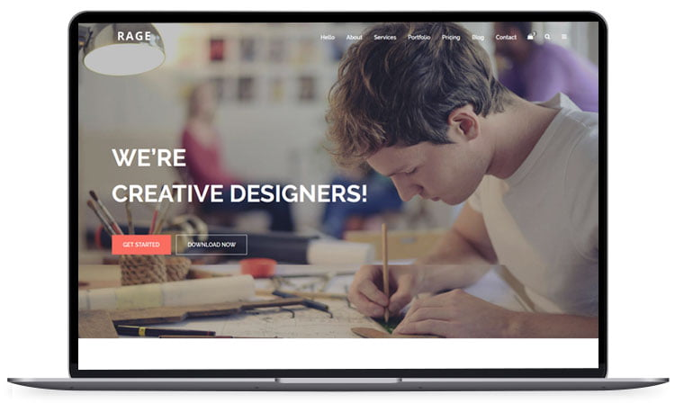 rage-freebie-bootstrap-html5-template-1 - 62+ Best Free HTML5 Website Templates [year]