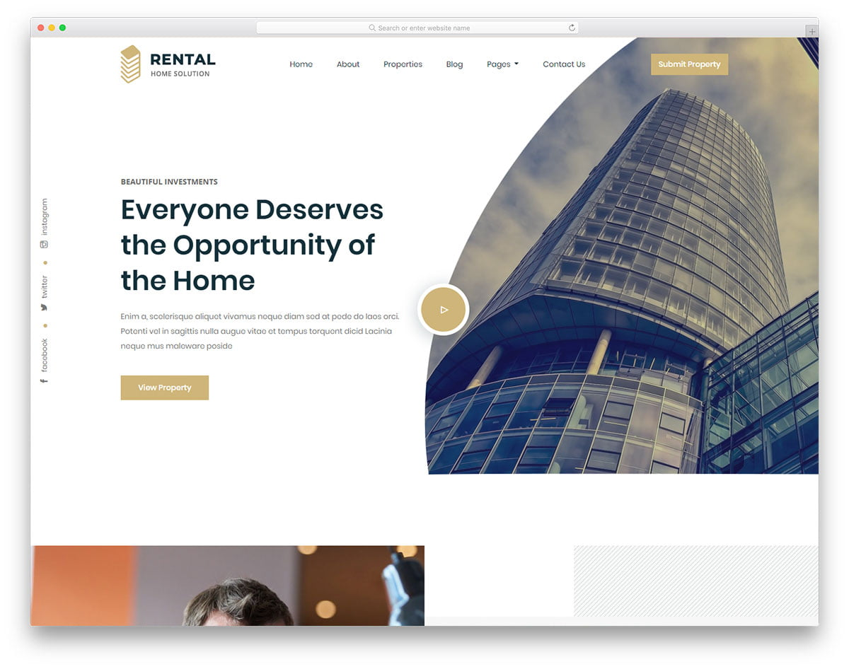 rental-free-template - 110+ Free Bootstrap HTML Responsive Templates 2019