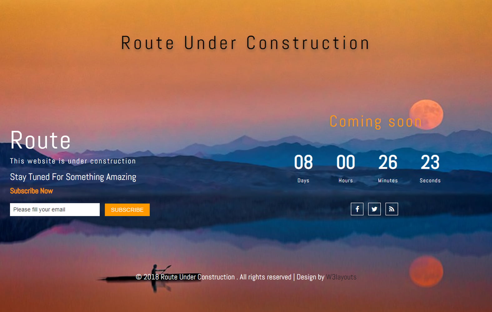 route_underconstruction - 75+ Free Coming Soon HTML Responsive Templates 2019