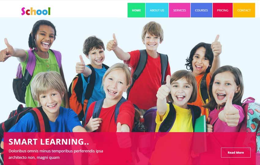 school-Educational-HTML5-Template - 57+ Best Free Education HTML Website Templates