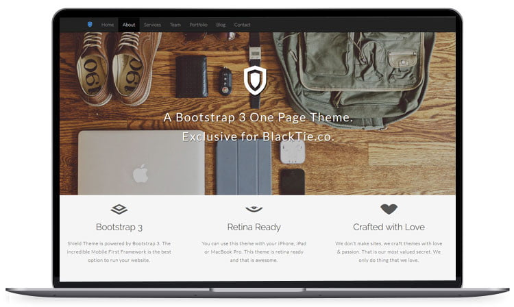 shield - 62+ Best Free HTML5 Website Templates [year]