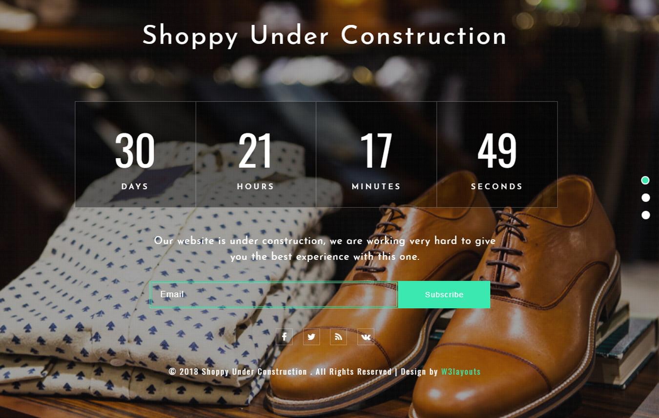 shoppy_underconstruction - 75+ Free Coming Soon HTML Responsive Templates 2019