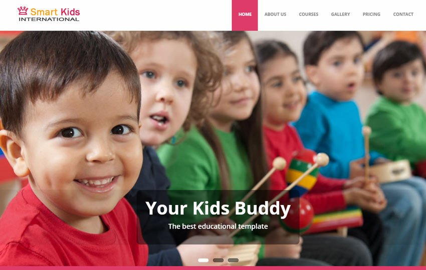 smart-kids-school-education-free-bootstrap-website-template - 57+ Best Free Education HTML Website Templates