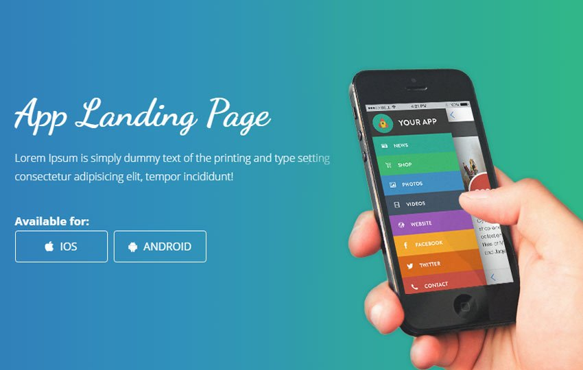 smartnet-free-mobile-app-landing-page-bootstrap-website - 56+ Best Free App Landing Page HTML Website Templates