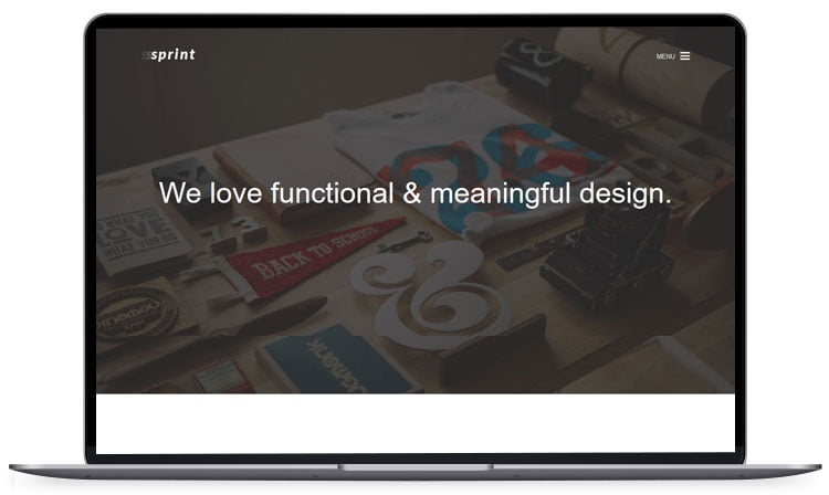 sprint - 62+ Best Free HTML5 Website Templates [year]