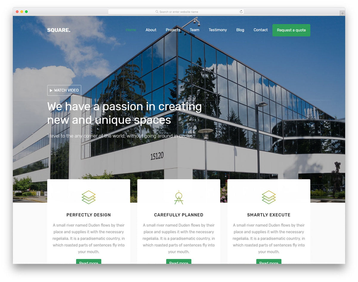 square-free-template - 56+ Best Free Architecture HTML Website Templates [year]