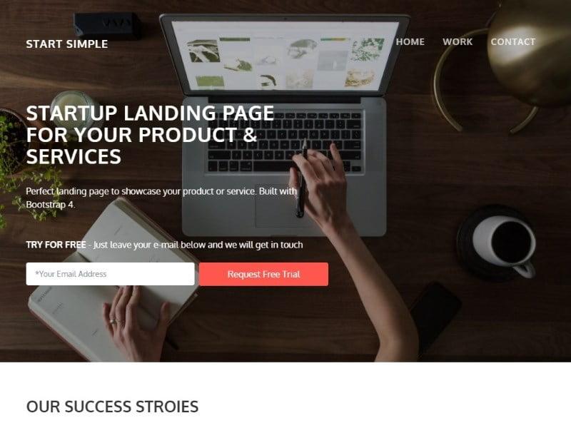 start-simple-800x600-1 - 57+ Best Free Digital Agency HTML Website Templates [year]