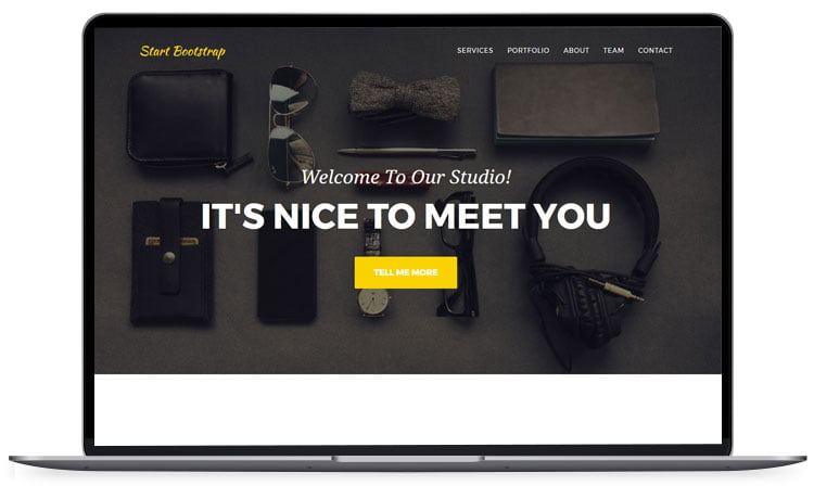 startbootstrap-agency-1 - 62+ Best Free HTML5 Website Templates [year]