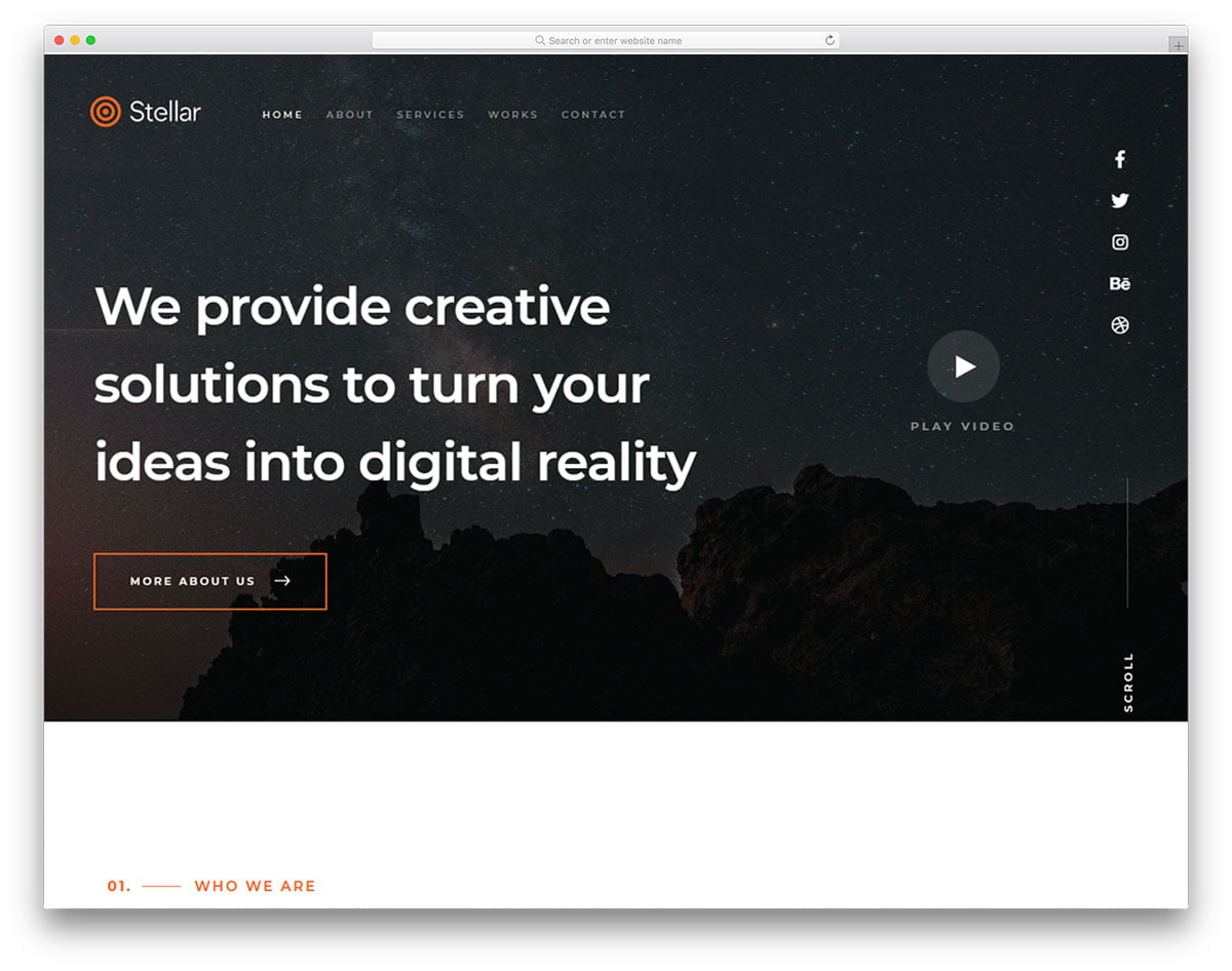 stellar-free-template - 57+ Best Free Digital Agency HTML Website Templates [year]