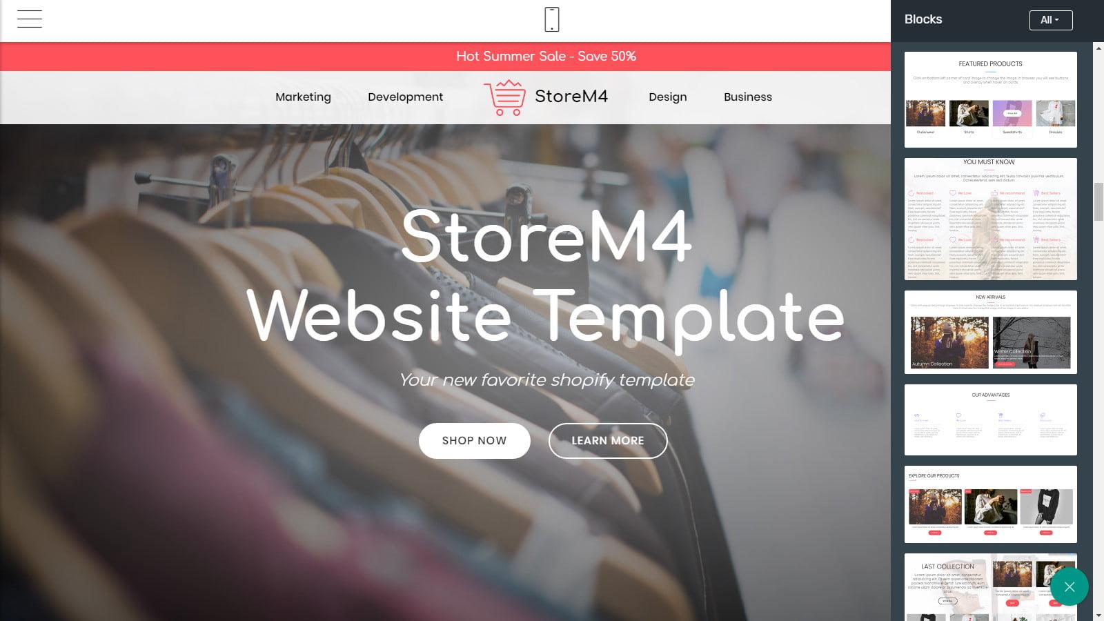 storem4 - 62+ Best Free HTML5 Website Templates 2019