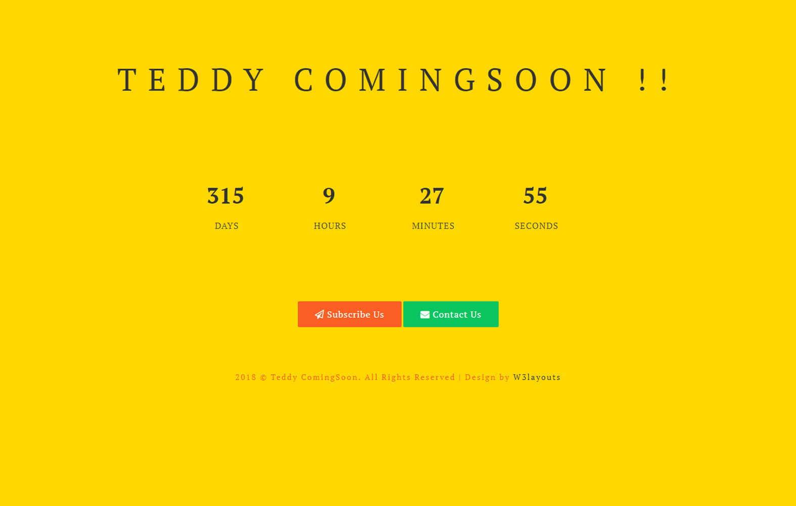 teddy_coming_soon - 75+ Free Coming Soon HTML Responsive Templates 2019