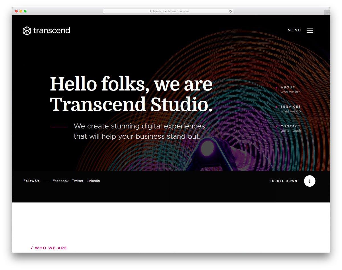 transcend-free-template-1 - 57+ Best Free Digital Agency HTML Website Templates [year]