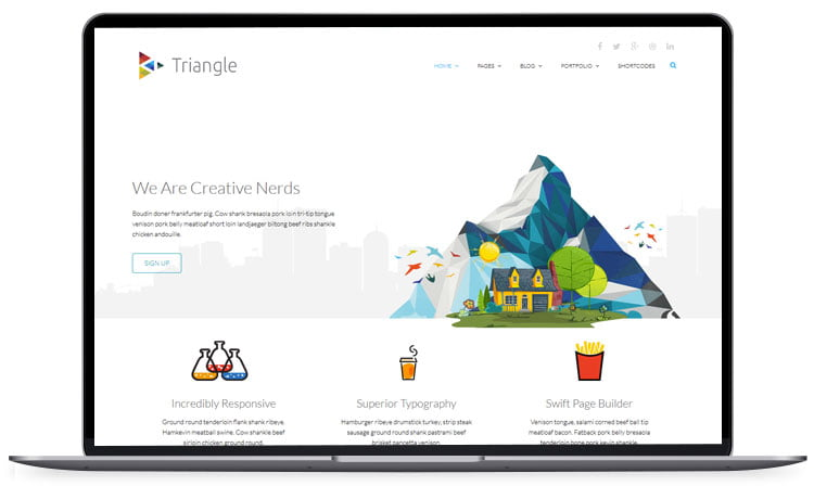triangle - 62+ Best Free HTML5 Website Templates [year]