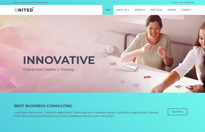 united-business-html-website-template - 57+ Best Free Digital Agency HTML Website Templates [year]