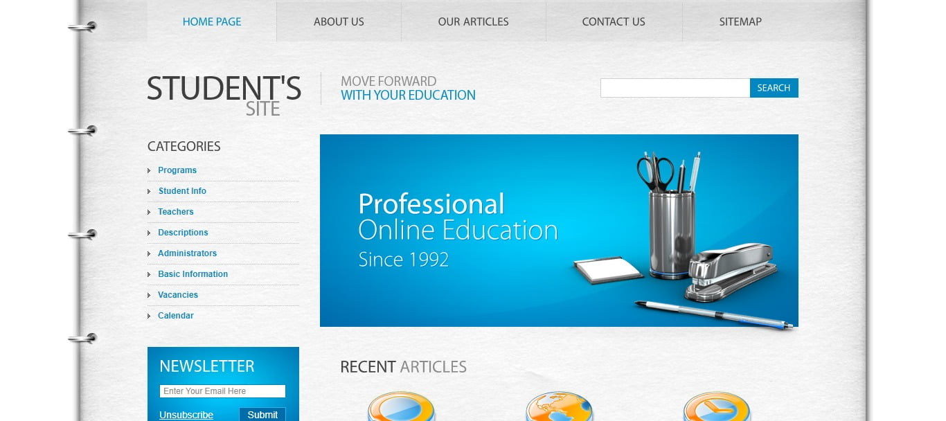 xxx - 57+ Best Free Education HTML Website Templates