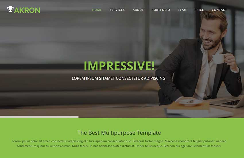 Akron-Multi-purpose-HTML5-Bootstrap-Website-Template - 62+ HTML Free Consulting Responsive Website Templates