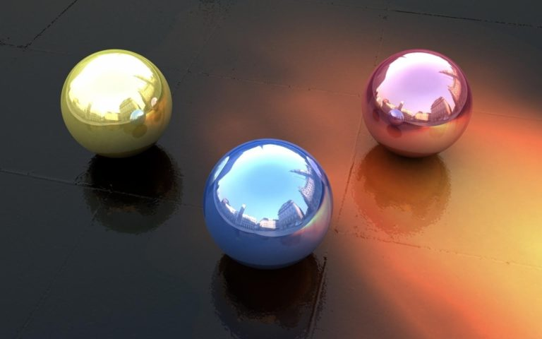 Balls-Form-Reflection-Wallpaper-768x480 - 125+ Free Download Full HD 3D Wallpapers [year]
