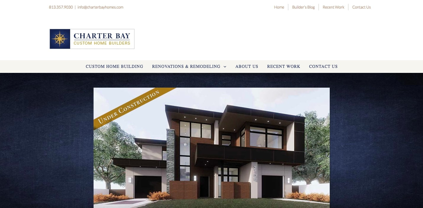 Charter-Bay-Homes - 50+ Great Examples Of WordPress Avada in Action [year]