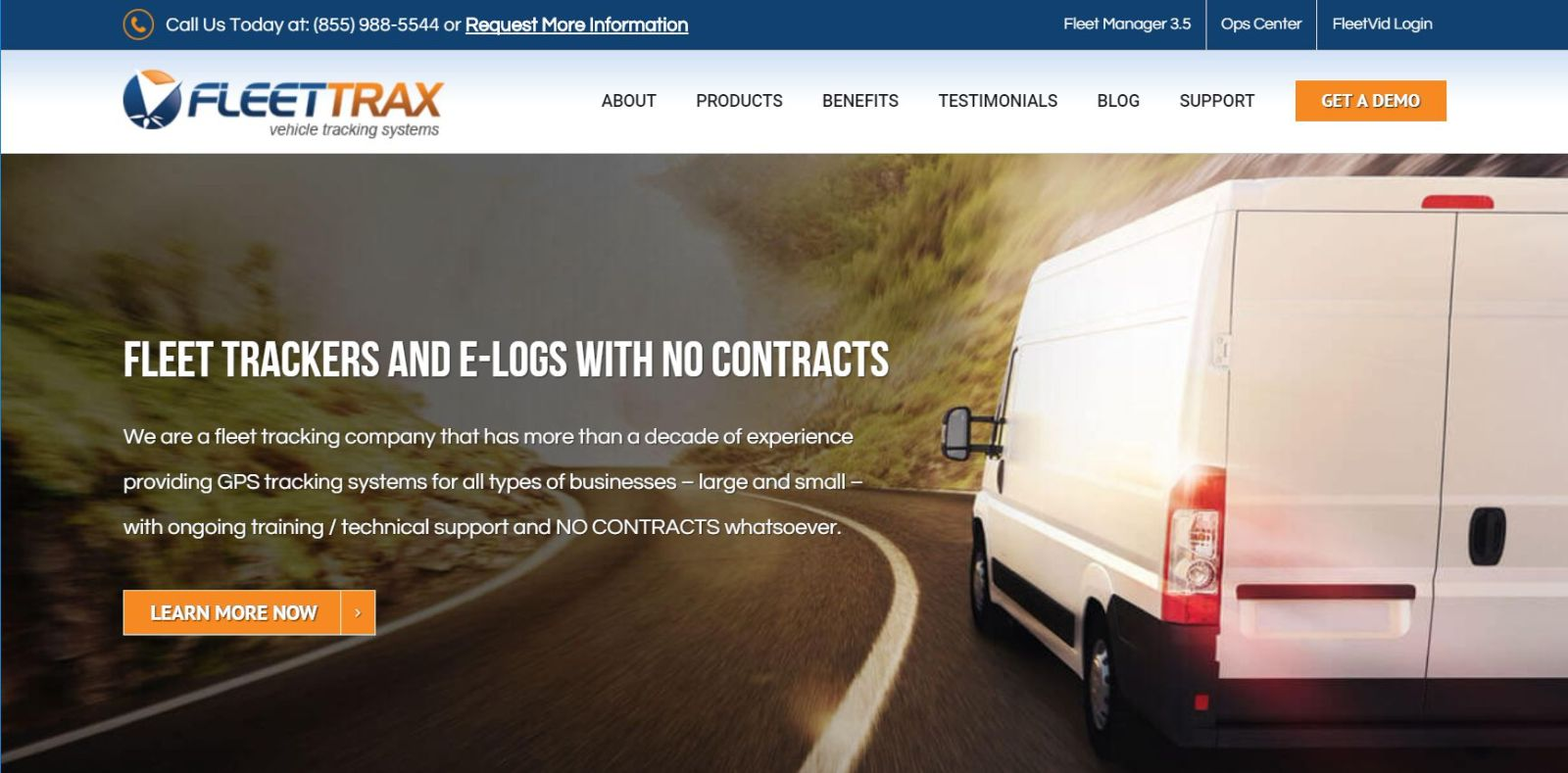 Fleet-Trax - 50+ Great Examples Of WordPress Avada in Action [year]