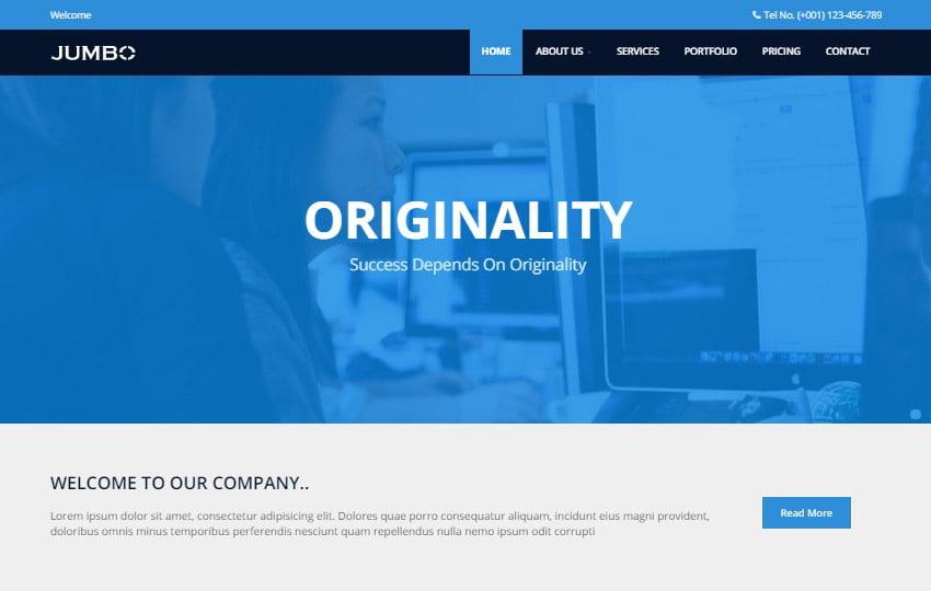 Jumbo-Multi-purpose-Free-HTML5-Template - 62+ HTML Free Consulting Responsive Website Templates