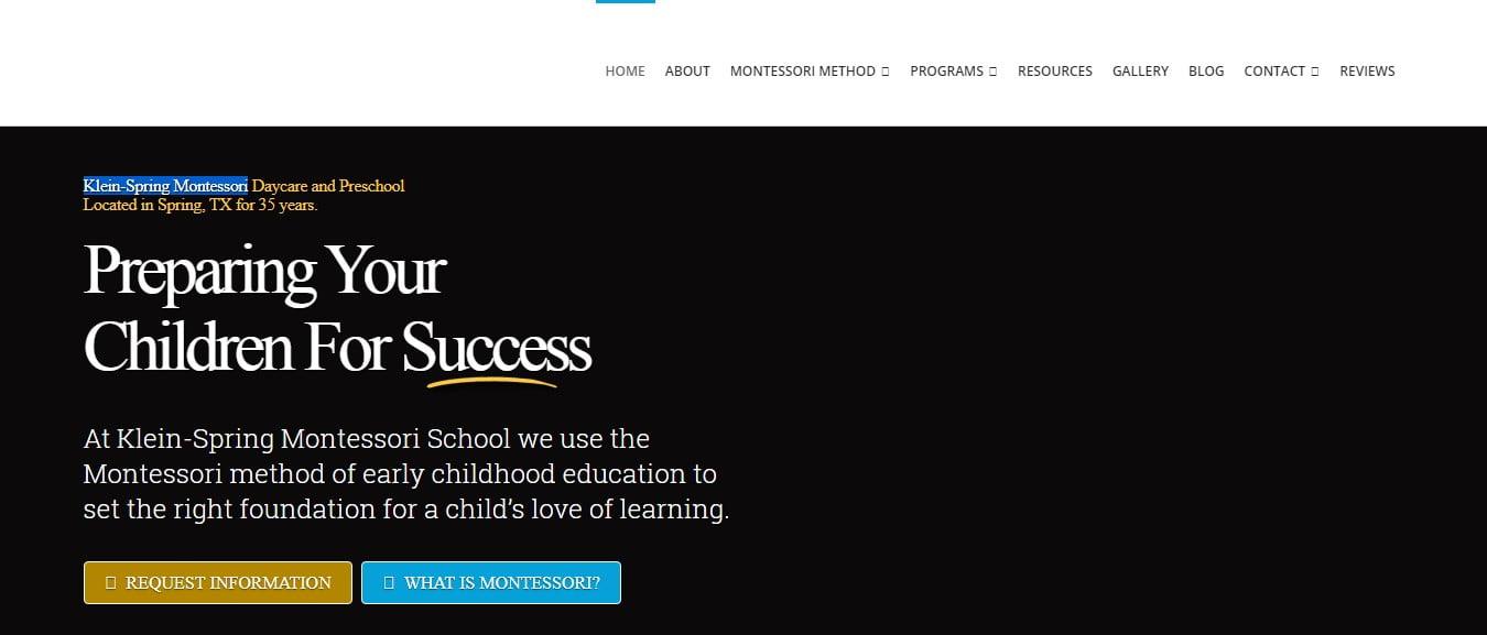 Klein-Spring-Montessori - 50+ Great Examples Of WordPress X Theme in Action