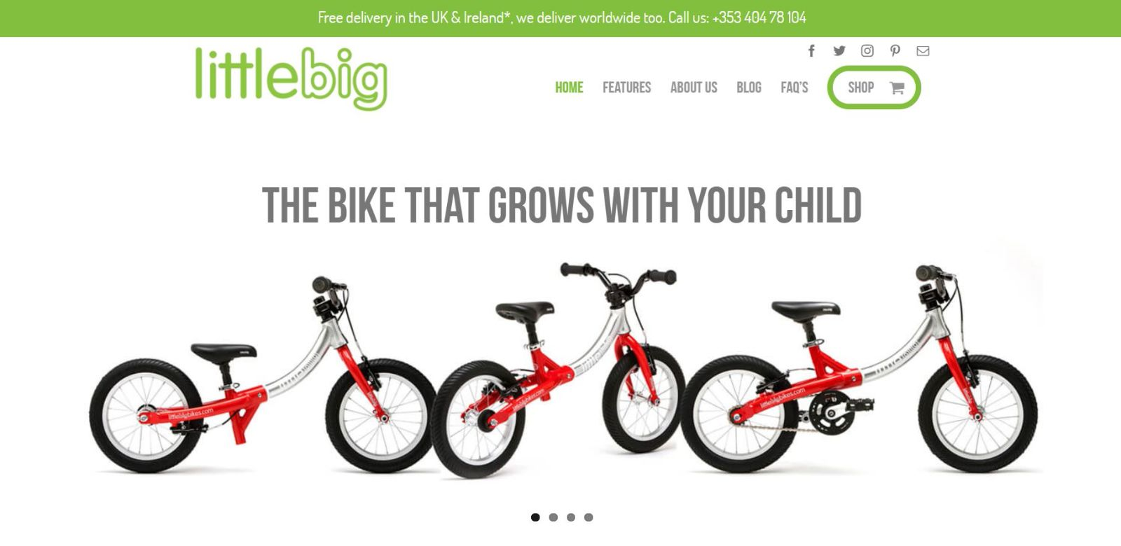 Little-Big-Bikes - 50+ Great Examples Of WordPress Avada in Action [year]