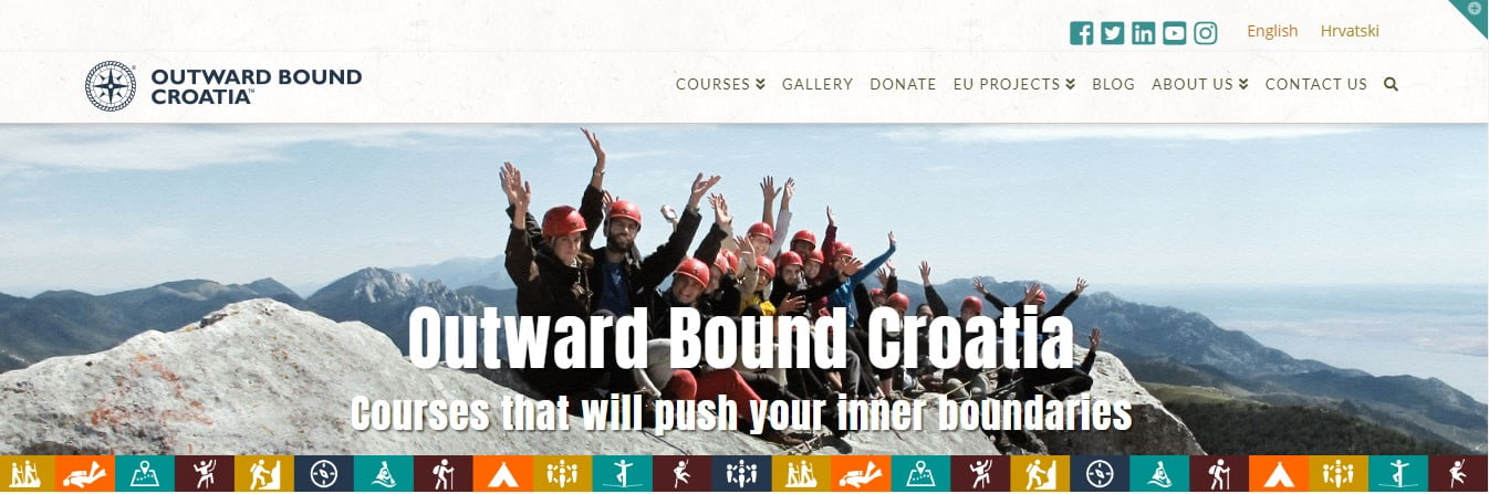 Outward-Bound-Croatia - 50+ Great Examples Of WordPress X Theme in Action