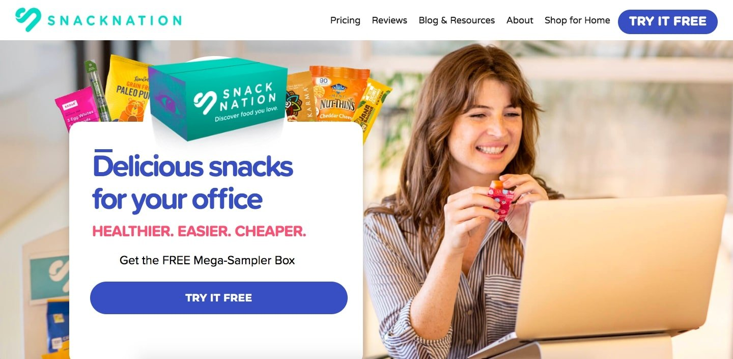 Snack-Nation - 50+ Great Examples Of WordPress Avada in Action [year]