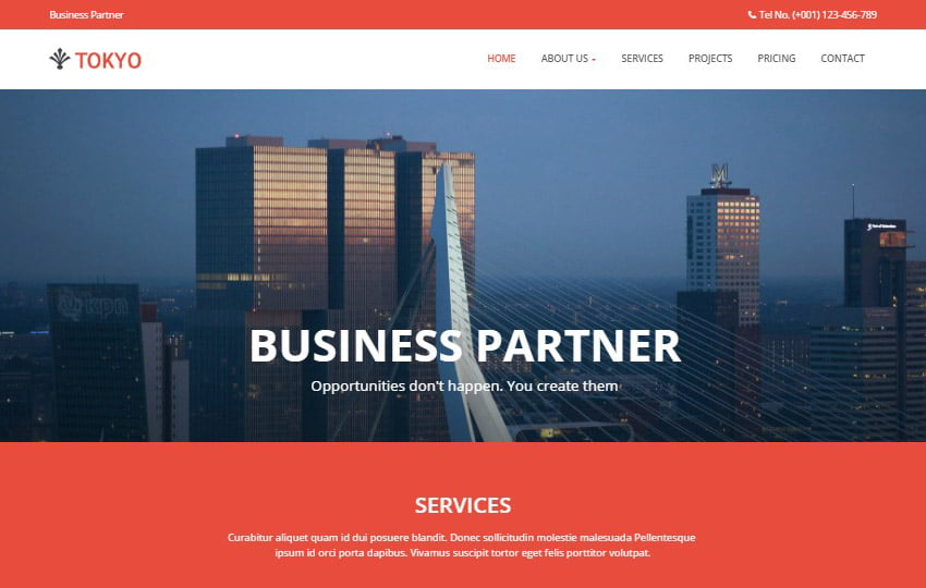 Tokyo-Multi-purpose-Free-HTML5-Template - 62+ HTML Free Consulting Responsive Website Templates