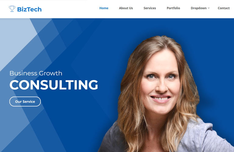 biztech-free-bootstrap-template - 62+ HTML Free Consulting Responsive Website Templates