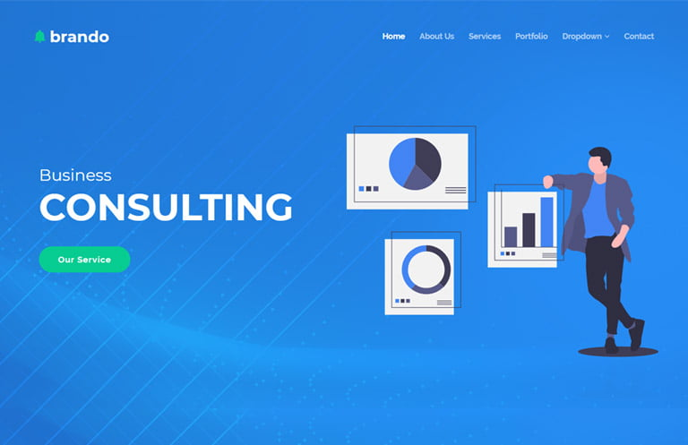 brando-corporate-bootstrap-template-1 - 62+ HTML Free Consulting Responsive Website Templates