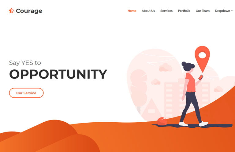 courage-bootstrap-business-template - 62+ HTML Free Consulting Responsive Website Templates