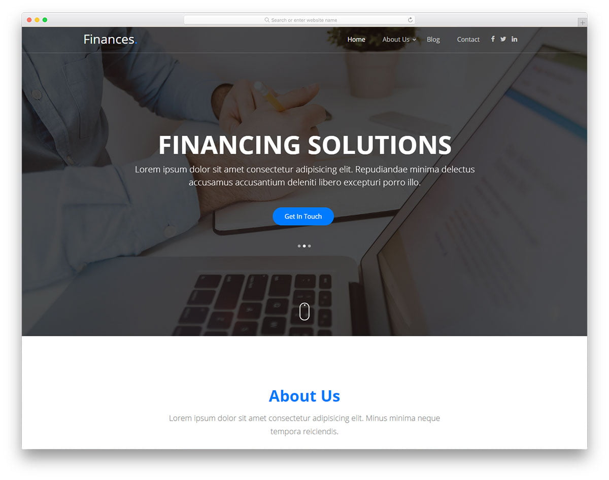 finances-free-template - 62+ HTML Free Consulting Responsive Website Templates