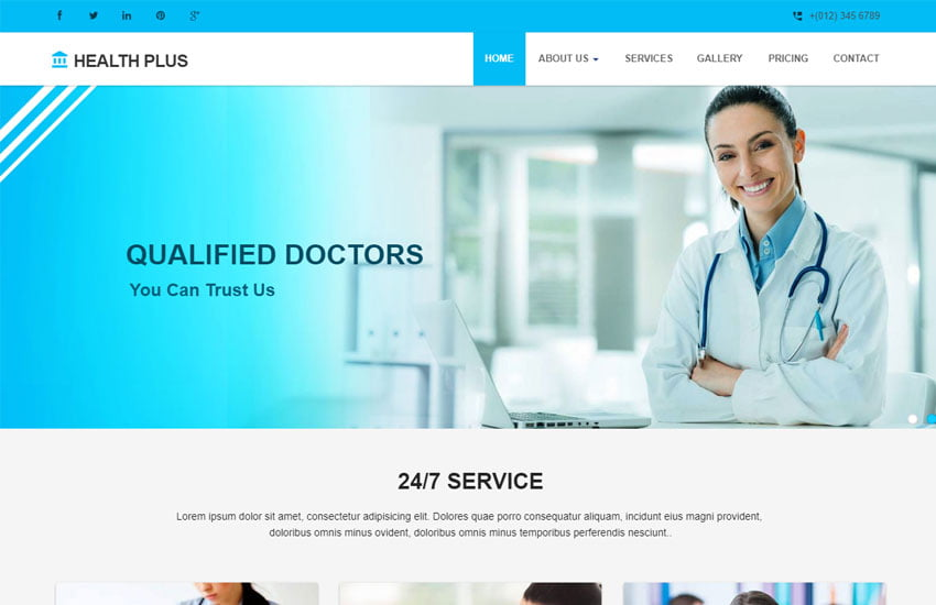 health-plus-medical-clinic-website-template - 62+ HTML Free Consulting Responsive Website Templates