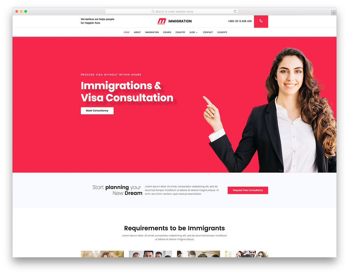 immigration-free-template - 62+ HTML Free Consulting Responsive Website Templates