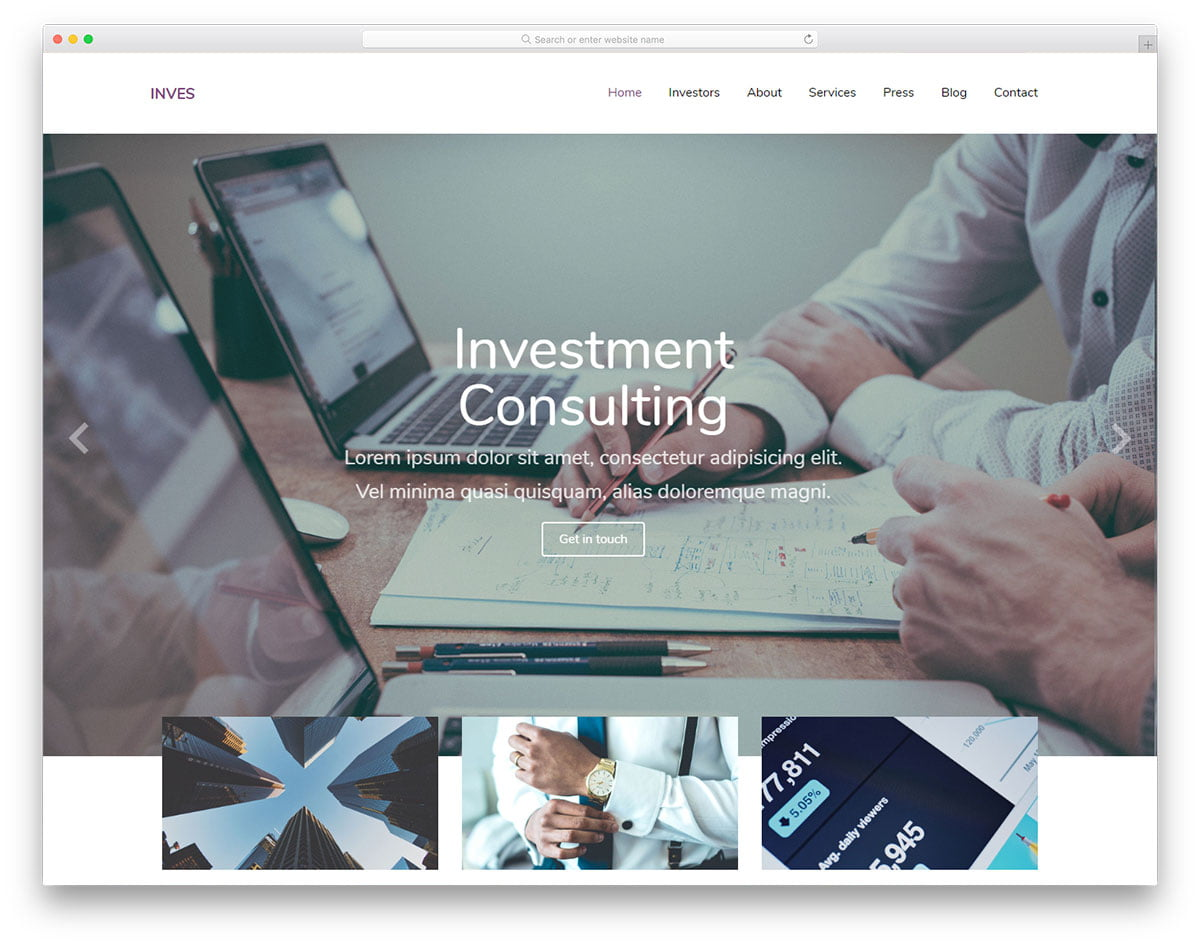 inves-free-template - 62+ HTML Free Consulting Responsive Website Templates