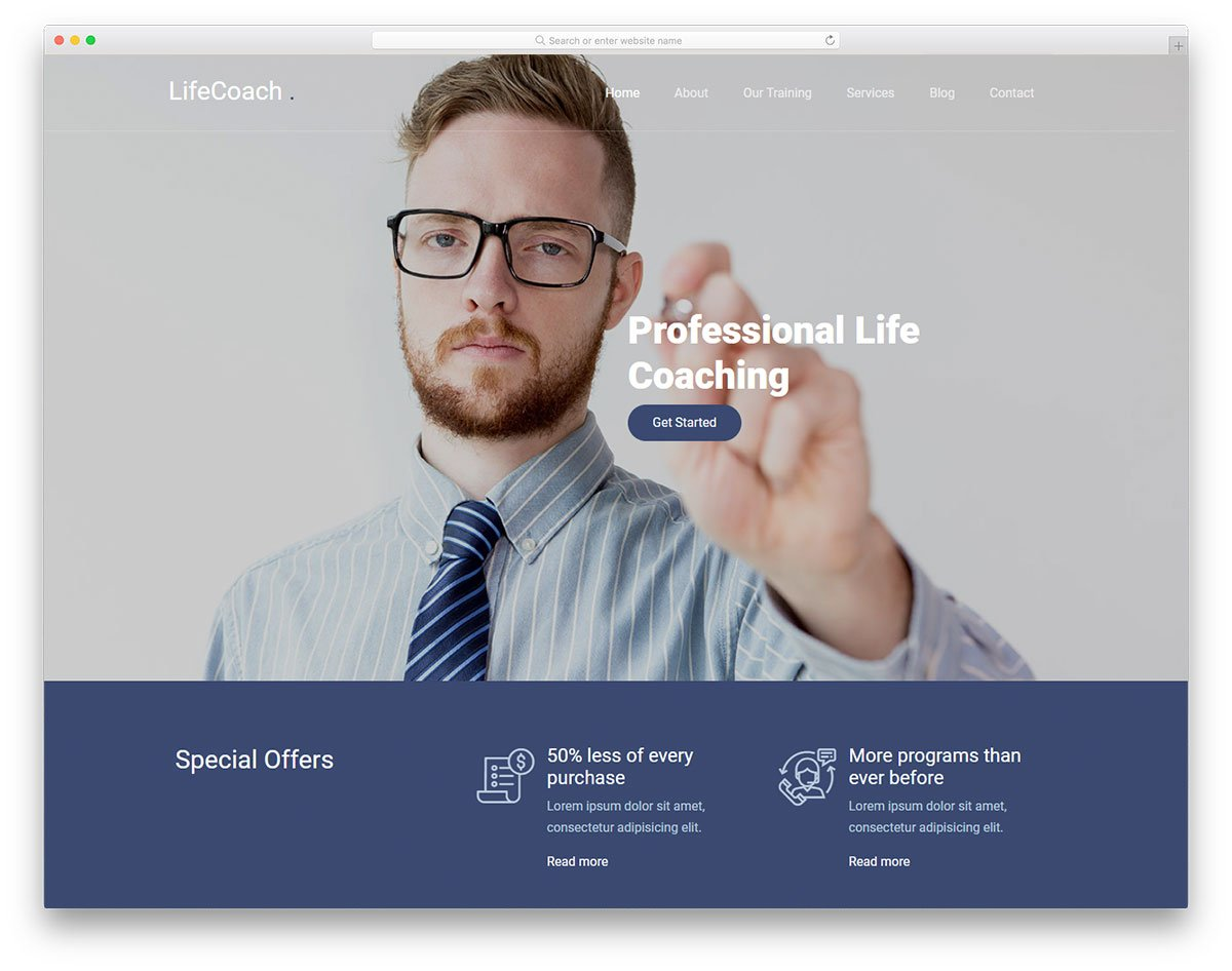 lifecoach-free-template - 62+ HTML Free Consulting Responsive Website Templates