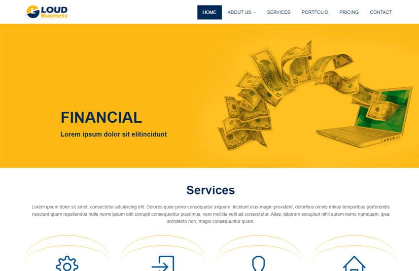 loud-business-html5-responsive-website-template - 62+ HTML Free Consulting Responsive Website Templates