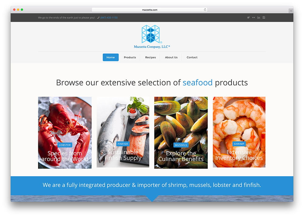 mazzetta-seafood-product-seller-site-example