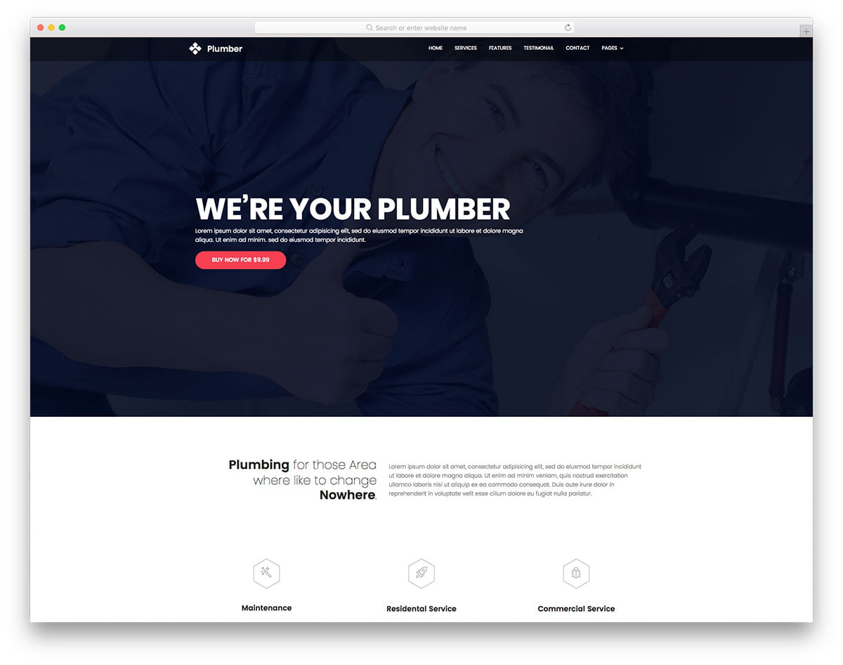 plumber-free-template - 62+ HTML Free Consulting Responsive Website Templates