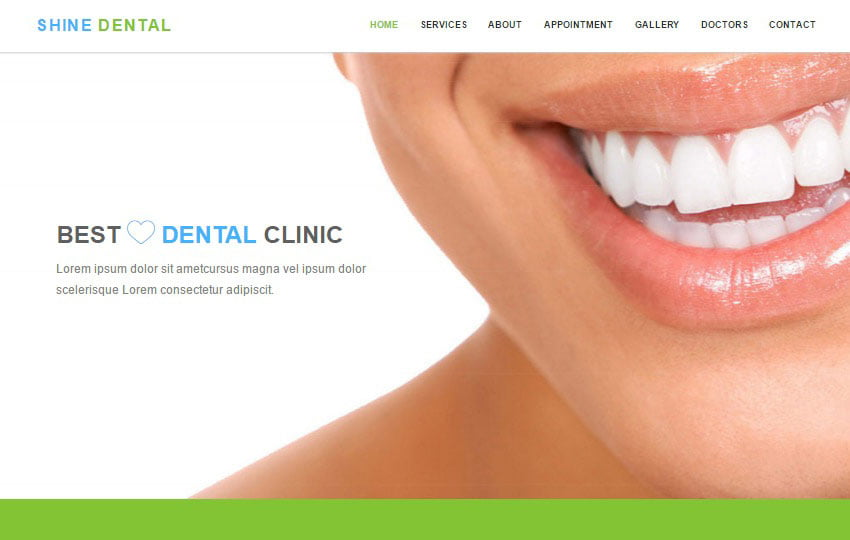 shine-dental-clinic-free-html-web-template - 62+ HTML Free Consulting Responsive Website Templates
