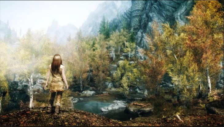 skyrim_girl_autumn_trees_97041 - 125+ Free Download Full HD Gaming Wallpapers [year]