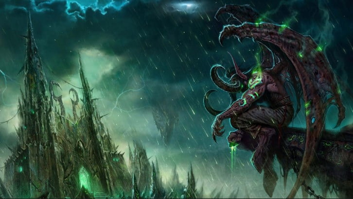 wow_illidan_world_of_warcraft_castle_monster_bad_weather - 125+ Free Download Full HD Gaming Wallpapers [year]