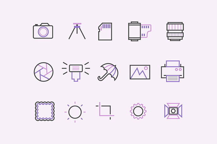 15-Photography-Icons - 35+ Stunning Photography Icon Sets [year]