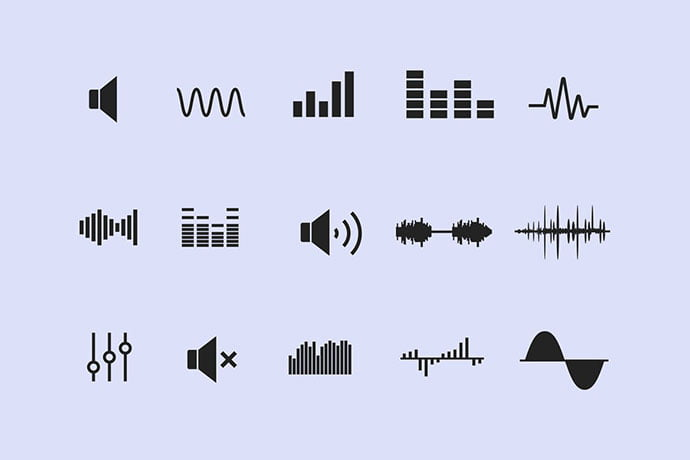 15-Sound-Wave-Icons - 35+ Best Music & Sound Icon Sets [year]