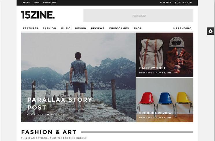 15Zine - Top 60+ News Magazine WordPress Themes [year]